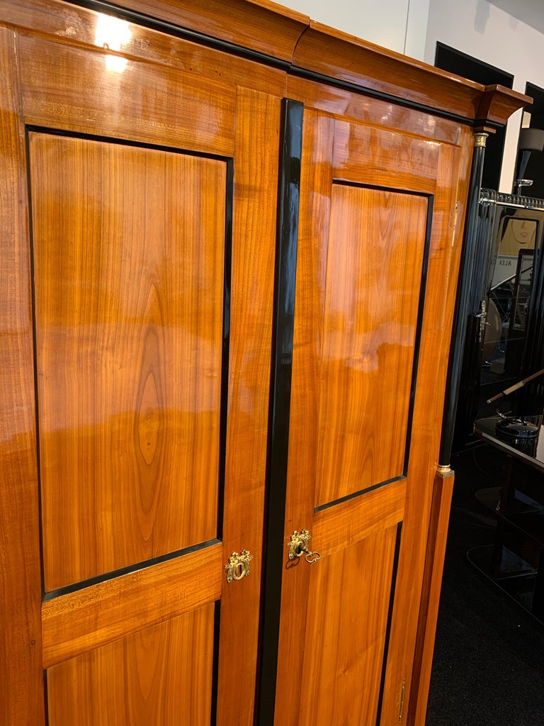 Biedermeier Armoire, Cherry Solid Wood, South Germany, circa 1820 For Sale 1