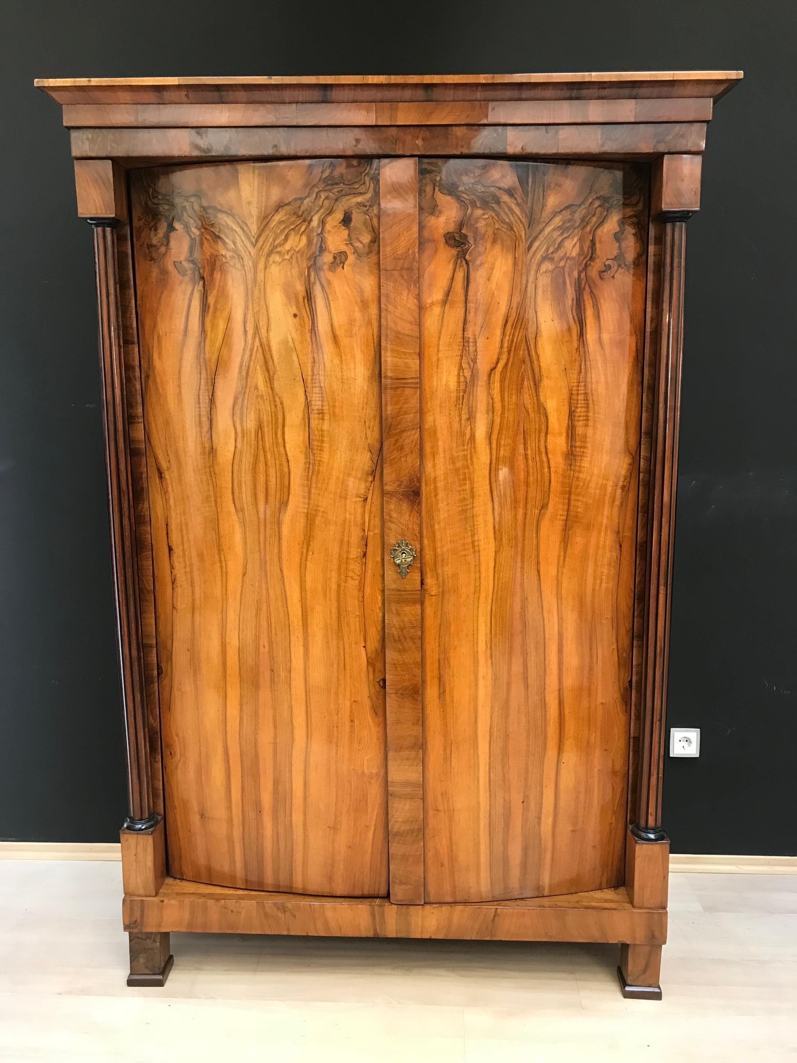 Useful Antique English Oak Colonial Armoire Jade White Antiques
