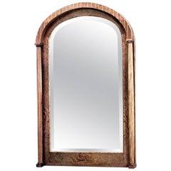 Biedermeier Austrian Style '19th Century' Burl Ash Wall Mirror