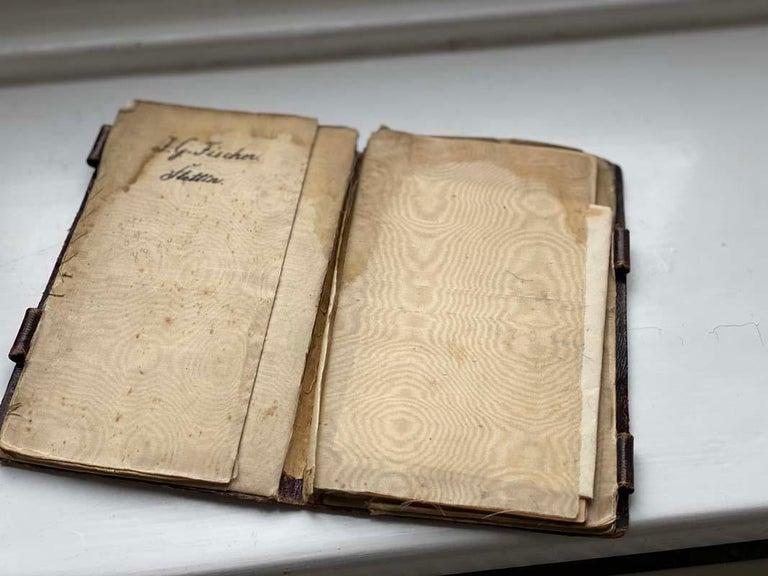 German Biedermeier Beadwork, Notebook  For Sale
