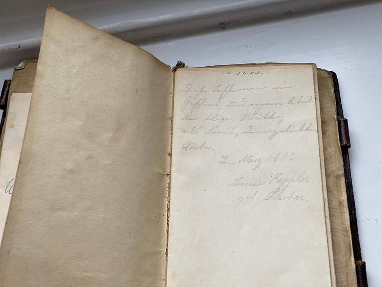 Biedermeier Beadwork, Notebook  In Fair Condition For Sale In Hamburg, DE