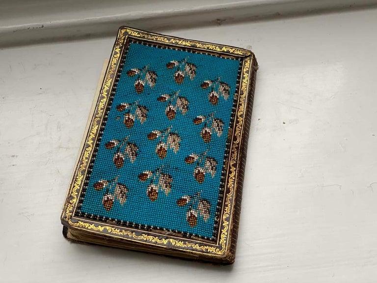 Late 19th Century Biedermeier Beadwork, Notebook  For Sale
