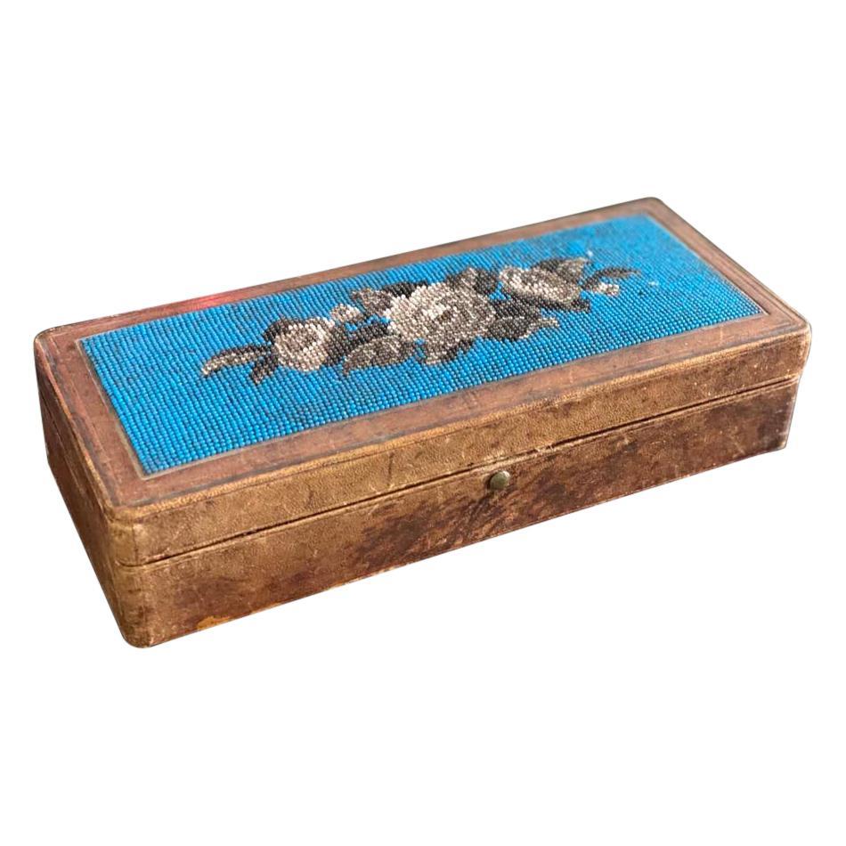 Biedermeier Beadwork, Pens Casket, Case, Box