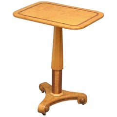 Biedermeier Bird's-Eye Maple Occasional Table