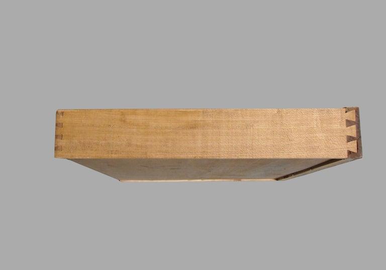 Biedermeier Burl Walnut Work Table with 2 Drawers and Lower Shelf For Sale 3