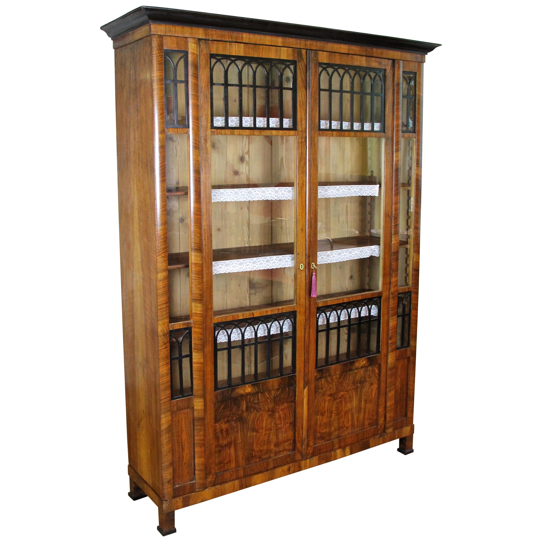 Biedermeier Cabinet Bookcase, Austria, circa 1830