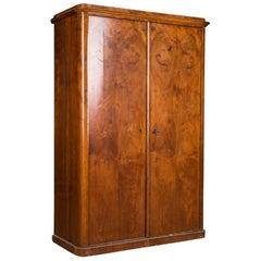 Biedermeier Cabinet Cupboard circa 1820 Walnut