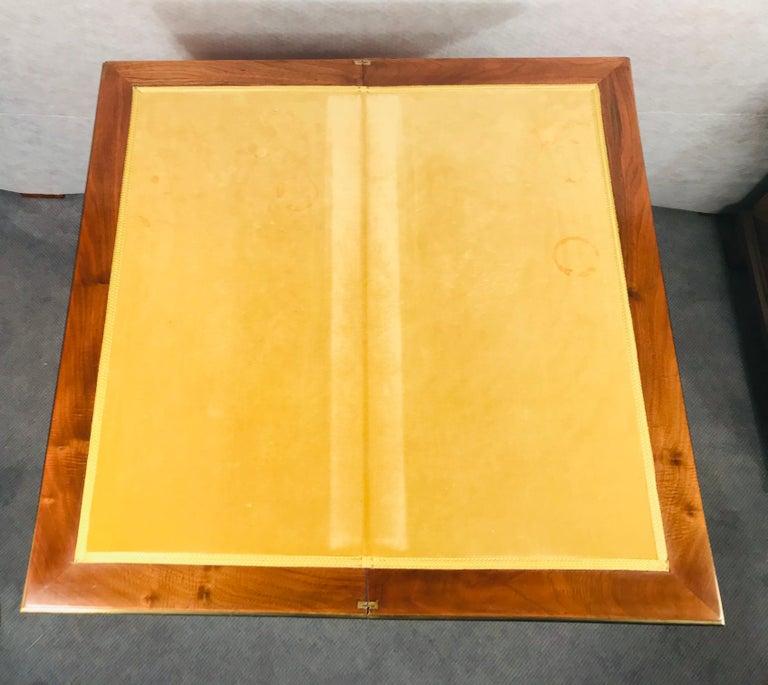 Biedermeier Card Table, South German 1820, Walnut For Sale 7