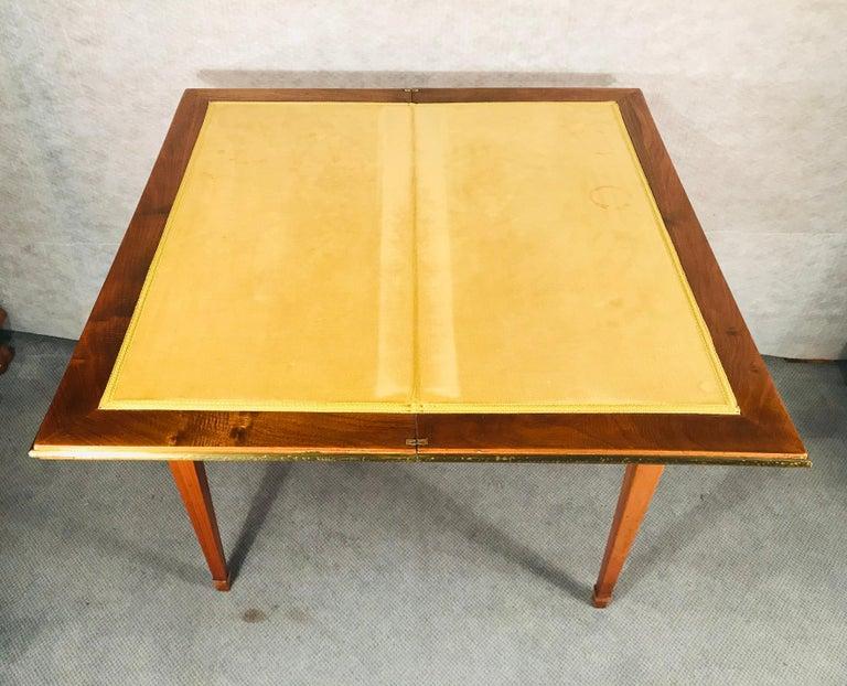 Biedermeier Card Table, South German 1820, Walnut For Sale 8