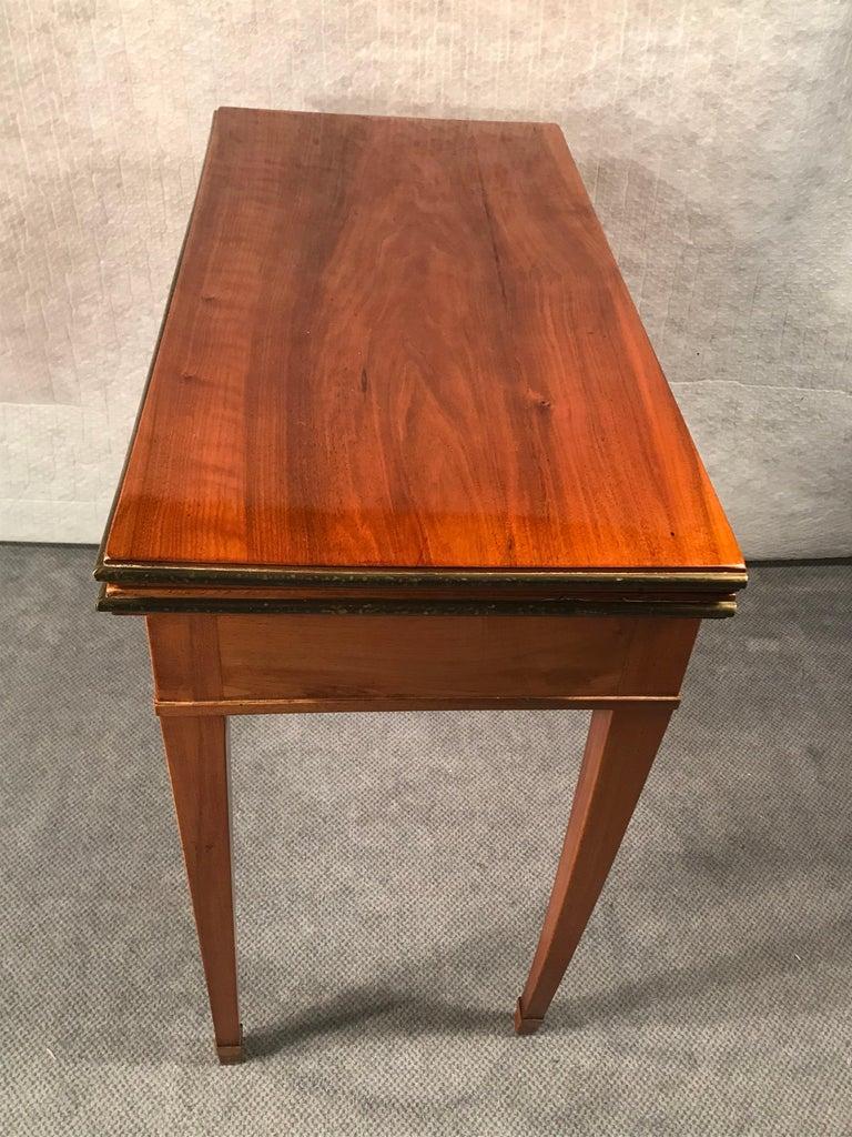 Biedermeier Card Table, South German 1820, Walnut For Sale 2