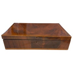 Biedermeier Box, Mahogany, French Polish, Austria/Vienna, circa 1830