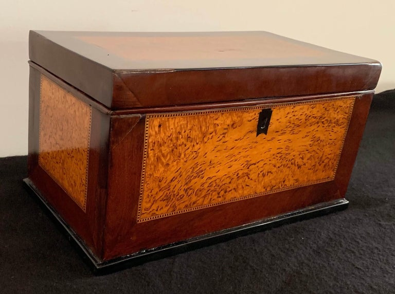 Big biedermeier box from Germany, 19th century.