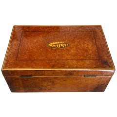 Biedermeier Casket Box, Thuja Roots/Maple/Ebony, France, circa 1840