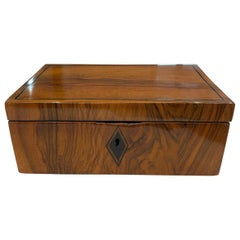 Neoclassical Biedermeier Box, Walnut, Ebony, South Germany, circa 1820
