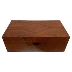 Biedermeier Casket Box, Walnut Veneer, French Polish, South Germany