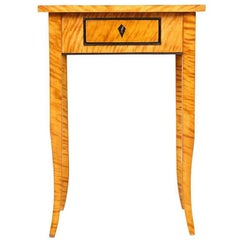 Biedermeier Caucasian Birch Veneer Table, circa 1840