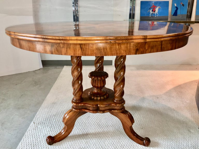 Biedermeier Center Table Gueridon For Sale 8
