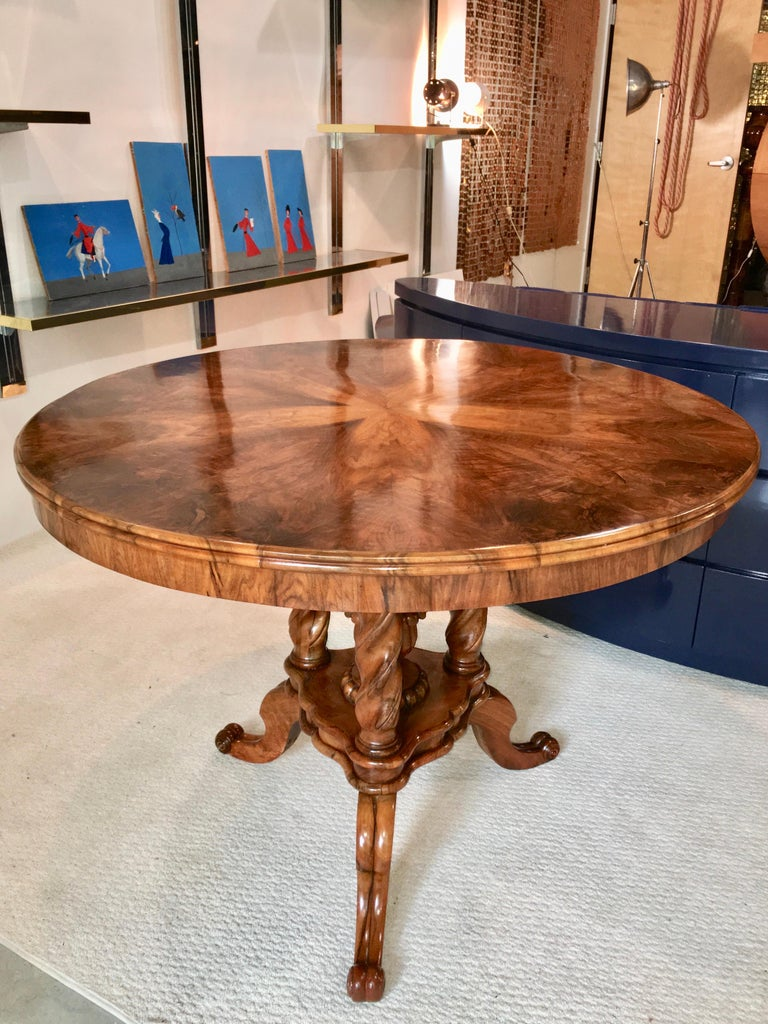 Biedermeier Center Table Gueridon For Sale 12