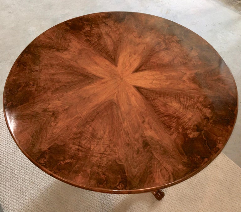 Biedermeier Center Table Gueridon In Good Condition For Sale In Hingham, MA