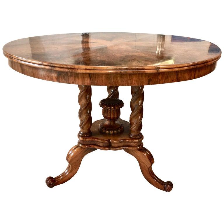 Biedermeier Center Table Gueridon For Sale