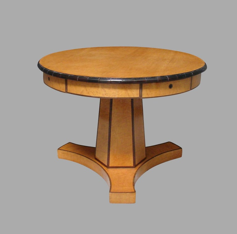Austrian Biedermeier Center Table with Hexagonal Base For Sale