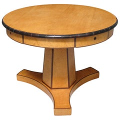Biedermeier Center Table with Hexagonal Base