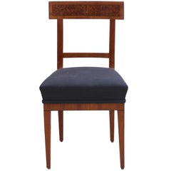 Biedermeier Chair, Cherry/Birch Root/Ebony, South Germany, circa 1820