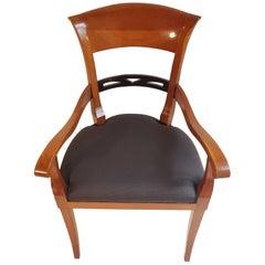 Biedermeier Chair with Armrest Made of Cherry