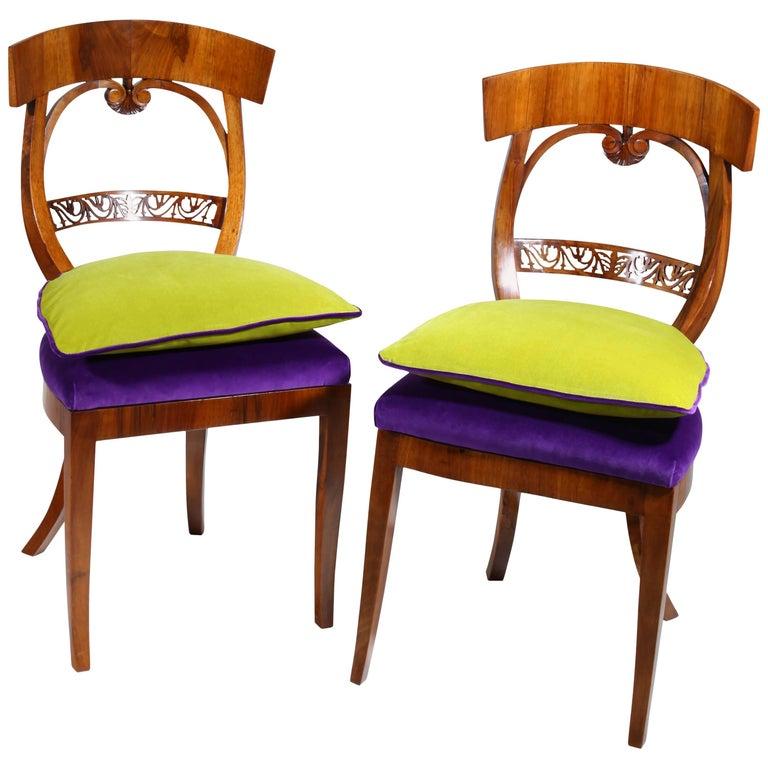 Biedermeier Chairs, circa 1820 For Sale