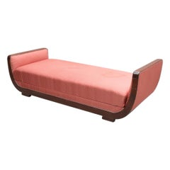 Biedermeier Chaise Longue Couch Art Deco, Swedish, Late 1800s