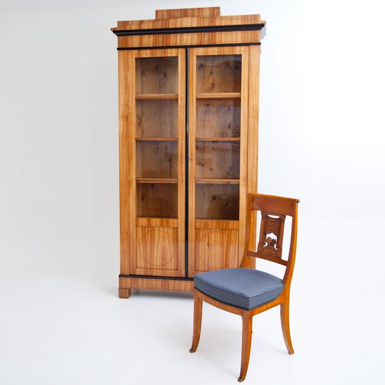 Biedermeier Cherry Bookcase, Saxony, circa 1820 For Sale 5