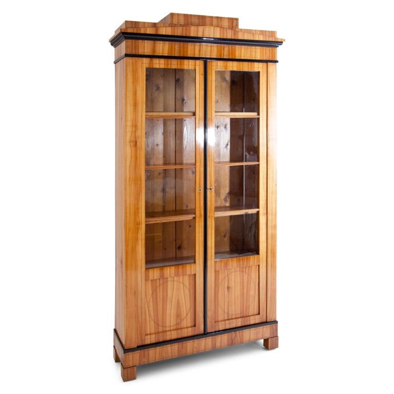 German Biedermeier Cherry Bookcase, Saxony, circa 1820 For Sale