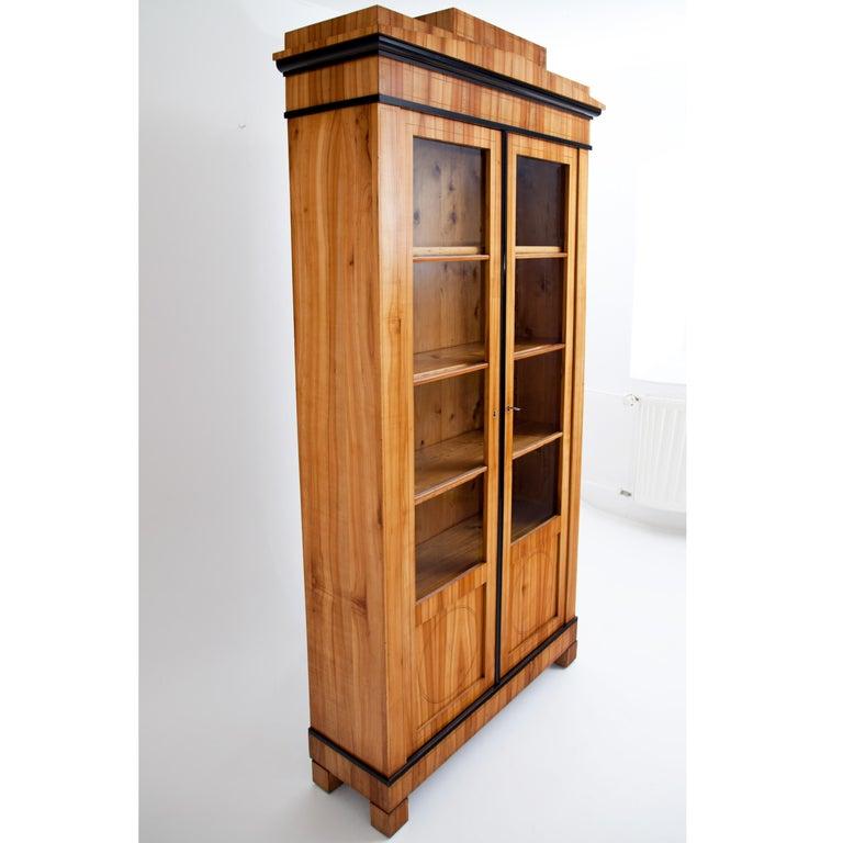 Biedermeier Cherry Bookcase, Saxony, circa 1820 For Sale 2
