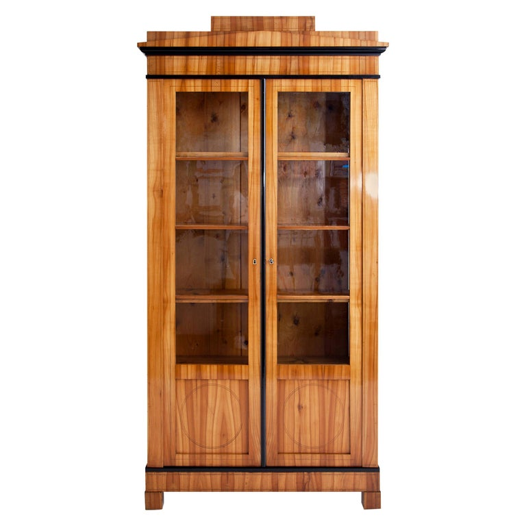 Biedermeier Cherry Bookcase, Saxony, circa 1820 For Sale
