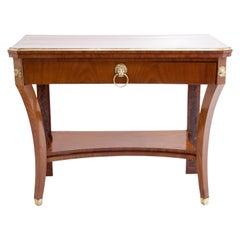 Biedermeier Cherry Console Table, Northern Germany, Probably Altona, circa 1820