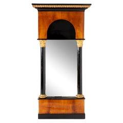 Biedermeier Cherry Wood Wall Mirror, c. 1820