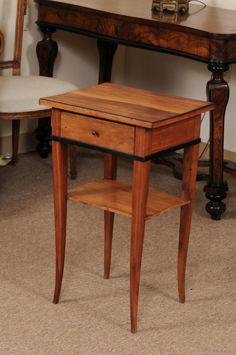 Biedermeier Cherrywood Side Table, circa 1850 For Sale 4