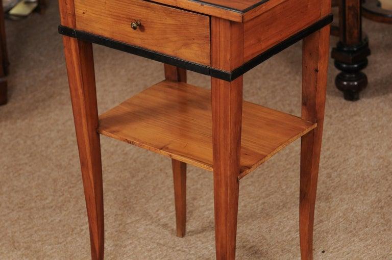 Biedermeier Cherrywood Side Table, circa 1850 For Sale 5