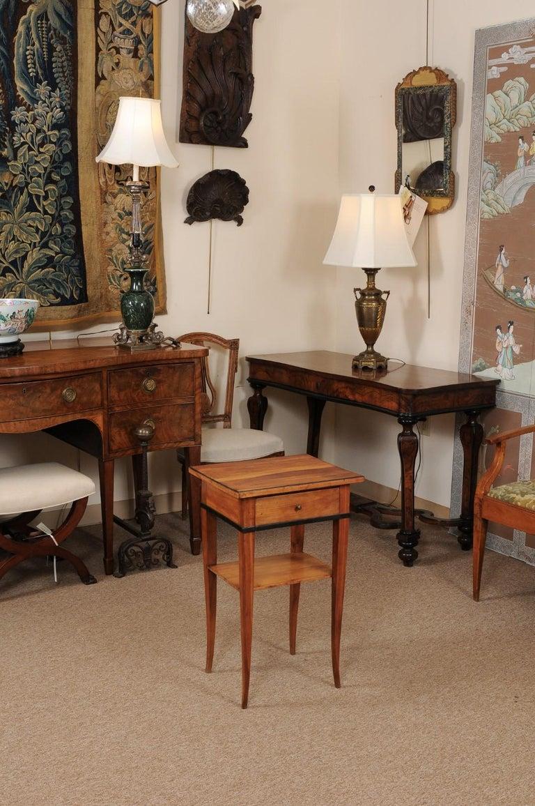 German Biedermeier Cherrywood Side Table, circa 1850 For Sale