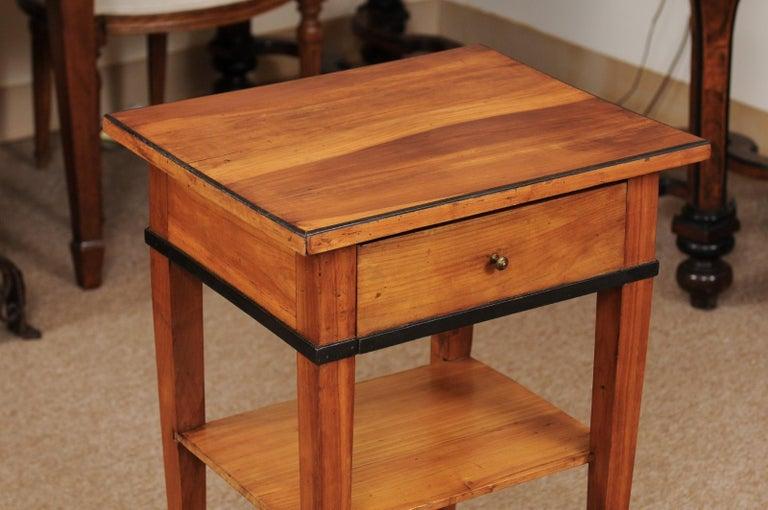 Ebonized Biedermeier Cherrywood Side Table, circa 1850 For Sale
