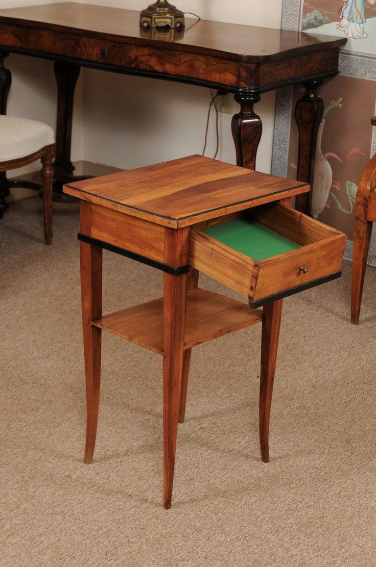 19th Century Biedermeier Cherrywood Side Table, circa 1850 For Sale