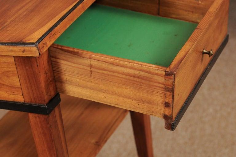 Wood Biedermeier Cherrywood Side Table, circa 1850 For Sale