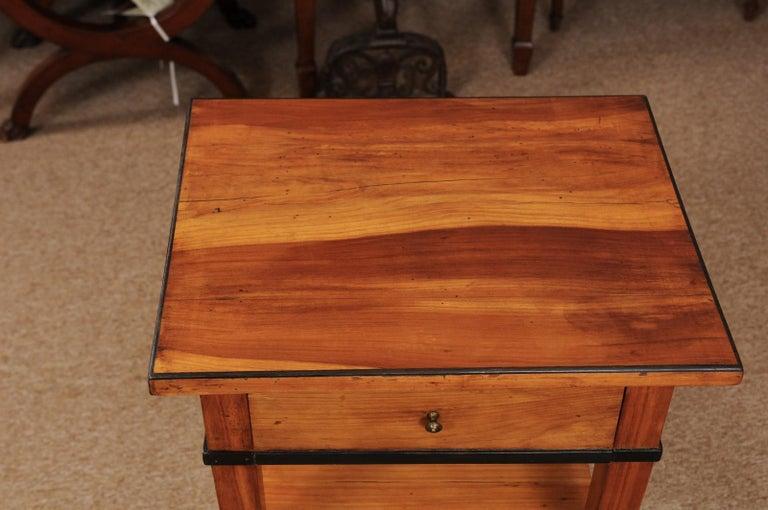 Biedermeier Cherrywood Side Table, circa 1850 For Sale 1