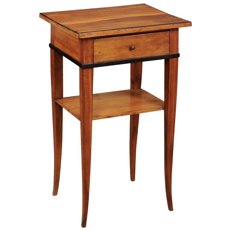 Biedermeier Cherrywood Side Table, circa 1850 For Sale