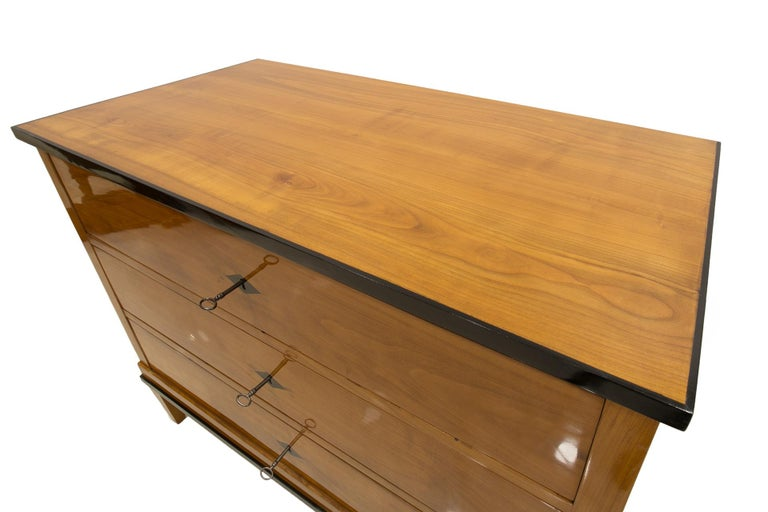 Biedermeier Chest of Drawers, Cherrywood, Germany, 19th Century For Sale 3