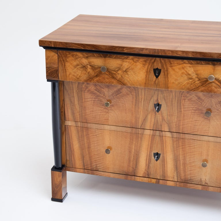 Walnut Biedermeier Chest of Drawers, Franconia, circa 1820 For Sale