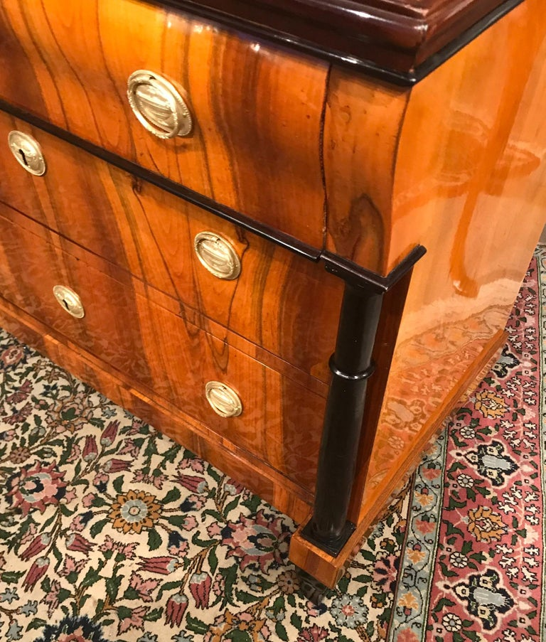 Veneer Biedermeier Chest of Drawers, Germany, 1820 For Sale