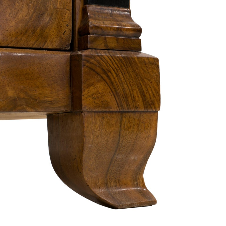 Biedermeier Chest of Drawers in Walnut Wood, France, 19th Century For Sale 7