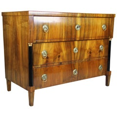 Biedermeier Chest of Drawers Nutwood, Austria, circa 1820