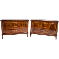 Biedermeier Chests of Drawers, Italy, 19th Century